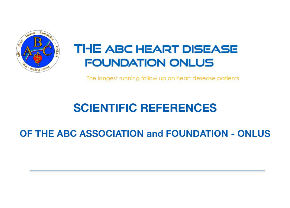 SCIENTIFIC REFERENCES OF THE ABC ASSOCIATION and FOUNDATION ONLUS